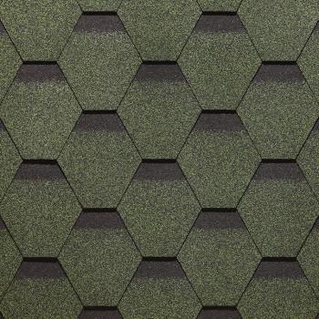 Гибкая черепица Docke PIE EUROPA/KARAT/Зеленый/ 3м1