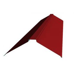 Конек фигурный красный (RAL 3011)