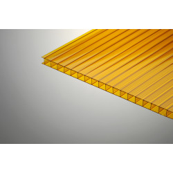 Поликарбонат сотовый желтый