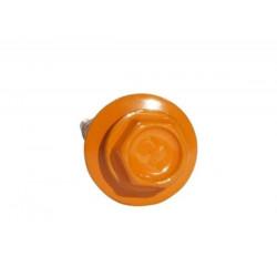 Саморез кровельный с шайбой оранжевый (RAL 2004)