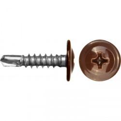 Саморезы с прессшайбой сверло коричневый (RAL 8017)