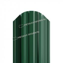 Штакетник металлический зеленый мох (RAL 6005)
