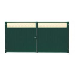 Ворота Grand Line Премиум плюс зеленые (RAL 6005)